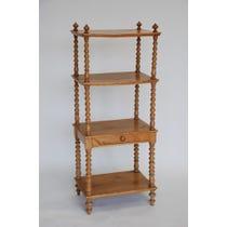 Rustic pine bobble legged shelves
