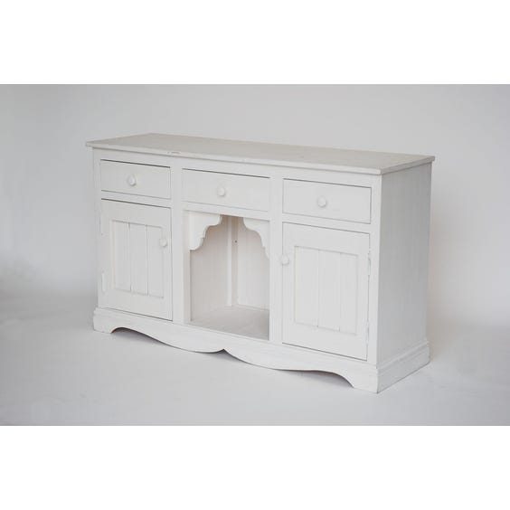 White painted carved wooden dresser image