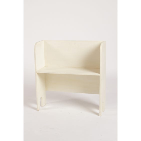 Small white painted wooden bookshelf image