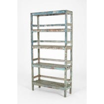 Rustic painted shelving unit