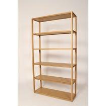 Simple oak frame shelving unit