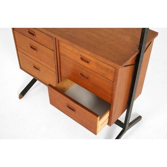 Ladderax style vintage shelving unit image