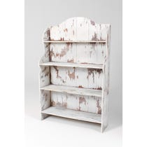 French distressed painted bookcase