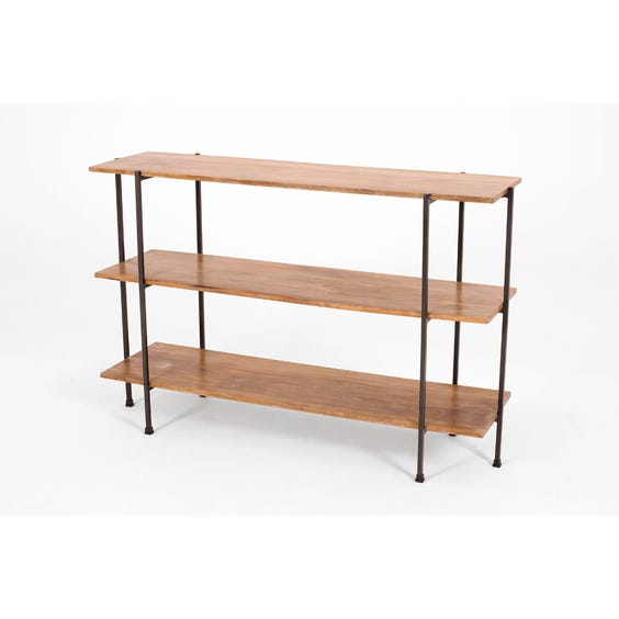 Modern tiered wooden shelving unit image