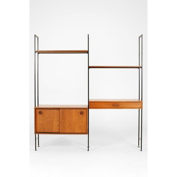 Midcentury teak shelving unit image