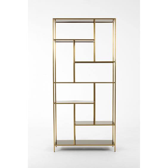 Midcentury brass shelving unit image
