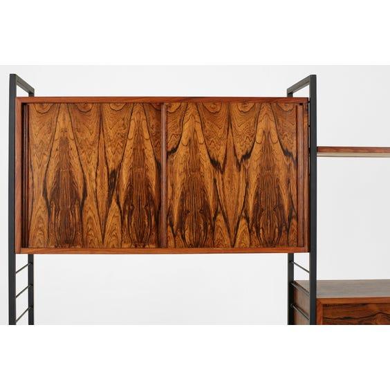 Midcentury rosewood Ladderax shelving unit image