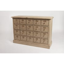 Cream wood multi drawer sideboard