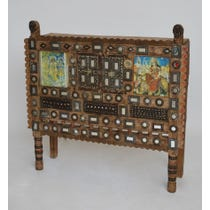 Natural wood Indian decorative chest
