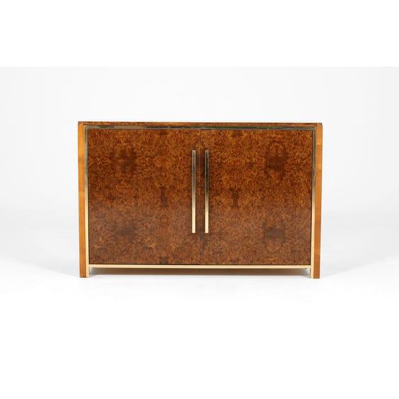 Walnut and brass drinks cabinet image