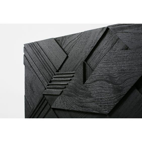 Ebonised brutalist carved sideboard image