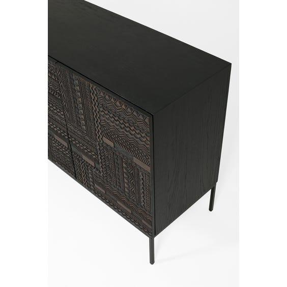 Modern ebonised teak sideboard image