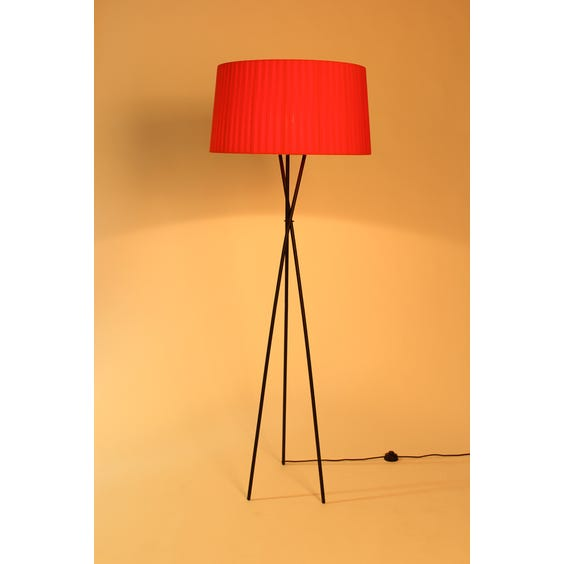 Black tripod floor lamp image