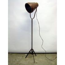 Senegalese brown metal cone lamp