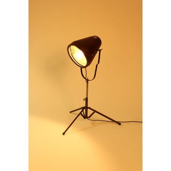 Senegalese brown metal cone lamp image