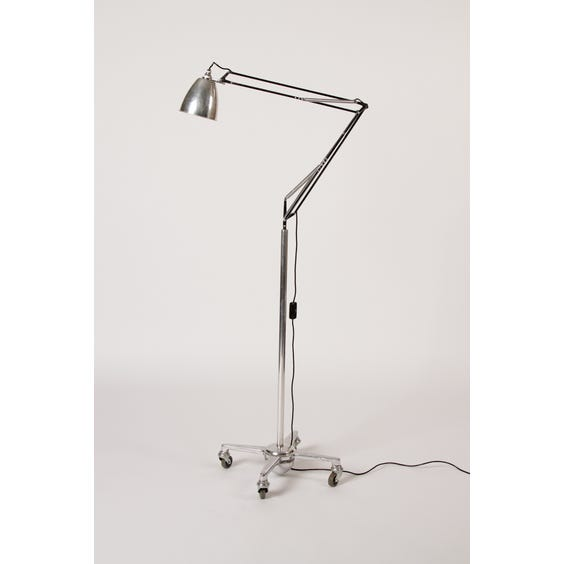 Chrome Anglepoise lamp on castors image
