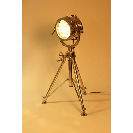 Large aluminium spotlight tripod lamp image
