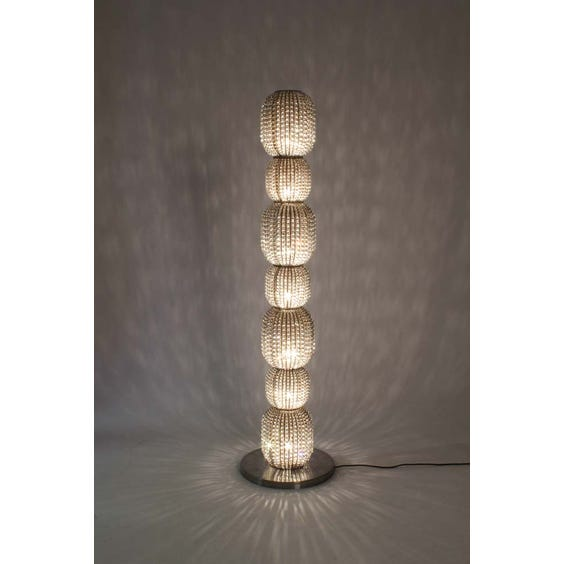 Antique crystal beaded floor lamp image