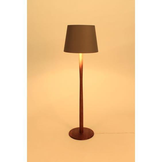 Solid walnut pole floor lamp image