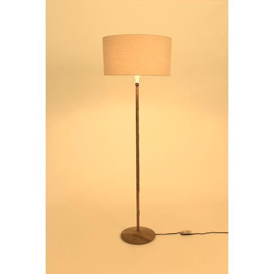 Conran walnut pole floor lamp image
