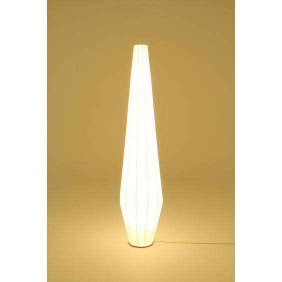 Tall white silk Chrysalis lamp image