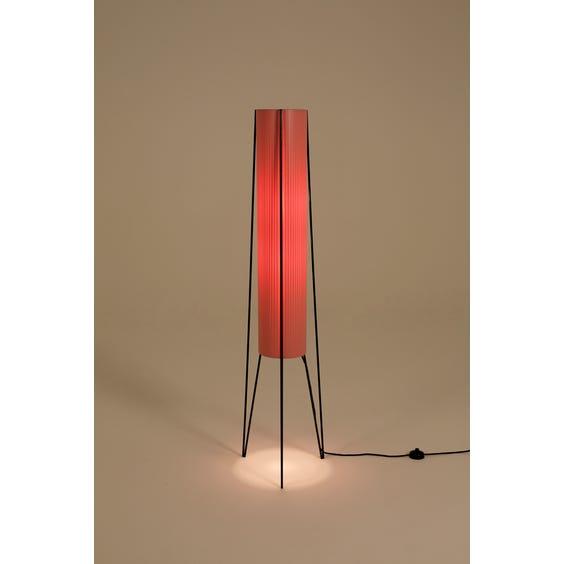 Midcentury pink rocket floor lamp image