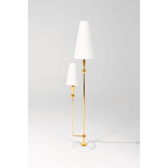1970s gold two arm conical lamp image