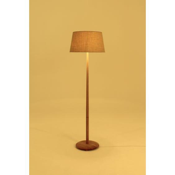 Modern pale oak pole floor lamp image