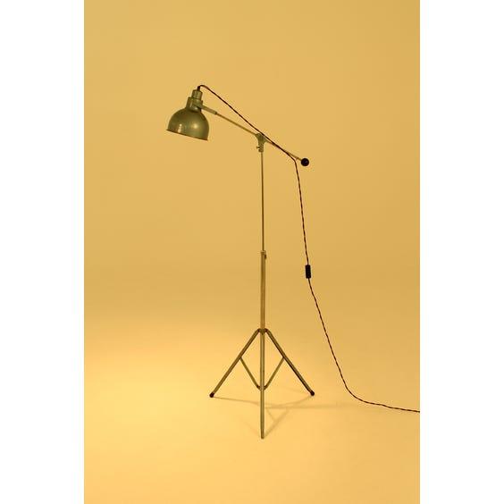 Vintage industrial blue Hammerite lamp image