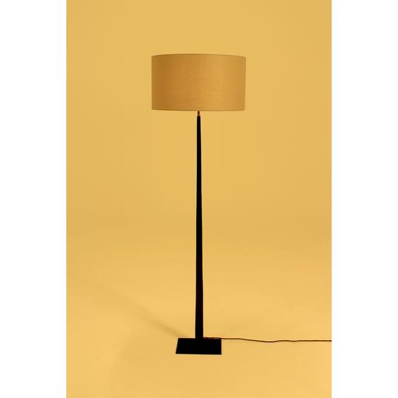 Black metal column floor lamp image