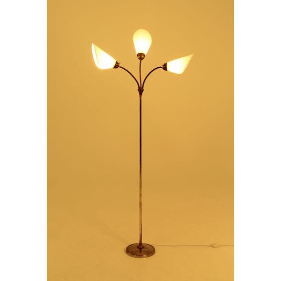 1950s brass stem three head lamp image
