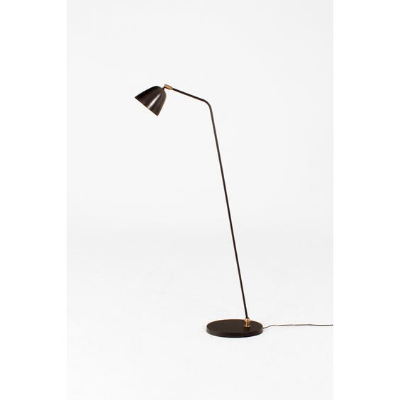 Midcentury dark metal floor lamp image