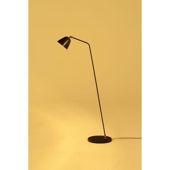 Midcentury dark metal floor lamp image