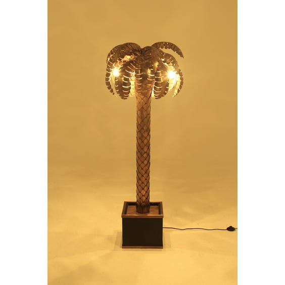 Brass palm tree standard lamp image