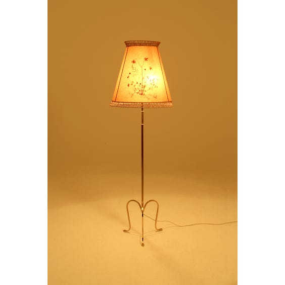 Period brass and vellum lamp image