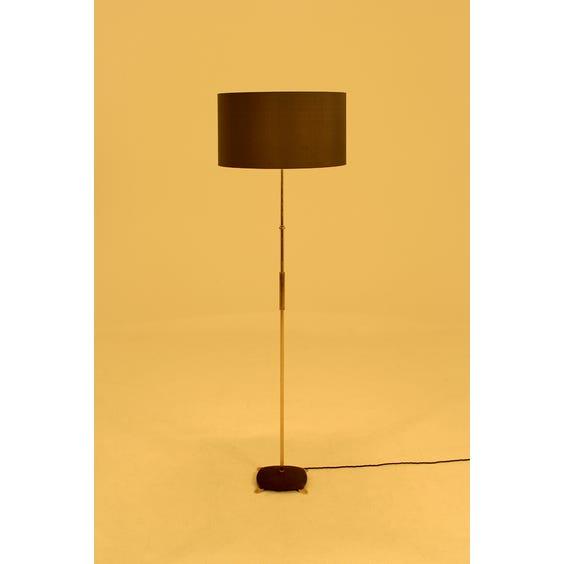 Midcentury brass pole floor lamp image