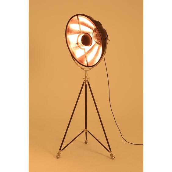 Matt brown metal fortuny lamp image