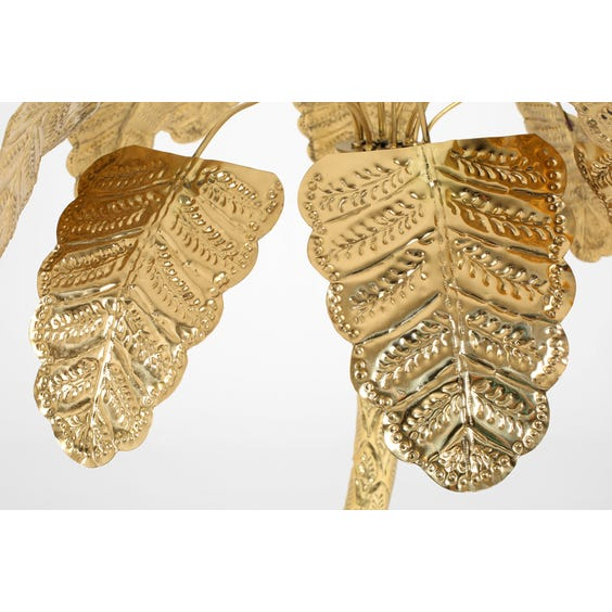 Polished brass palm tree lamp image