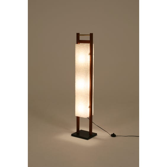 Midcentury resin column lamp image