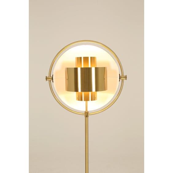 Brass multi light floor lamp image