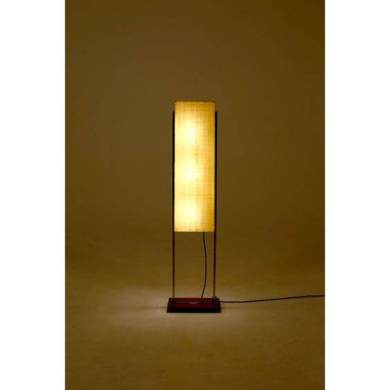 Midcentury chrome and rosewood lamp image