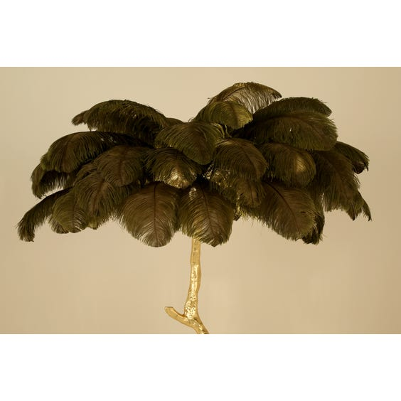 Moss green ostrich feather image