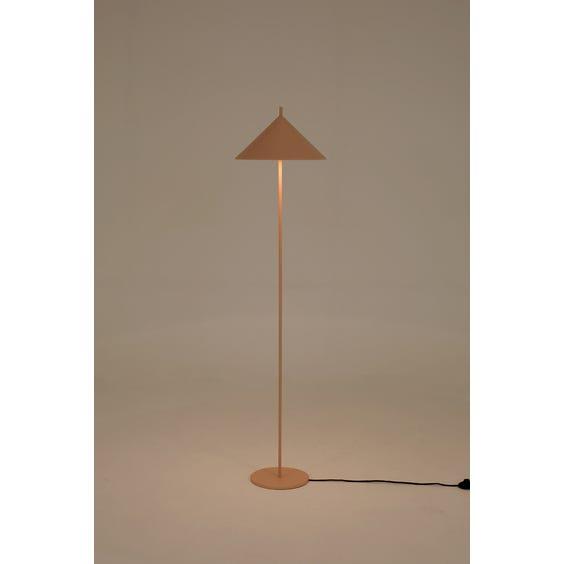 Pale powder pink standard lamp image