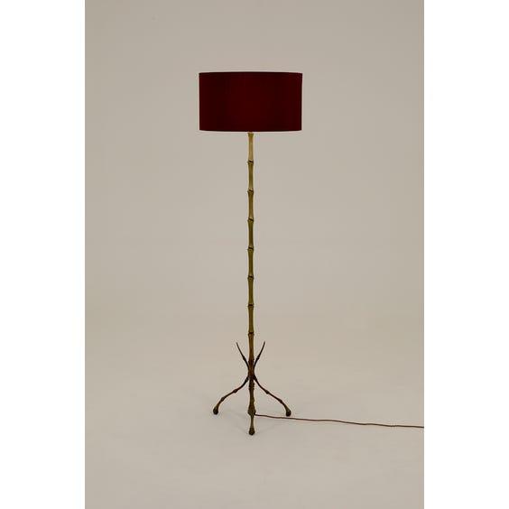Midcentury brass bamboo standard lamp image
