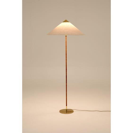 Rattan bound stem standard lamp image