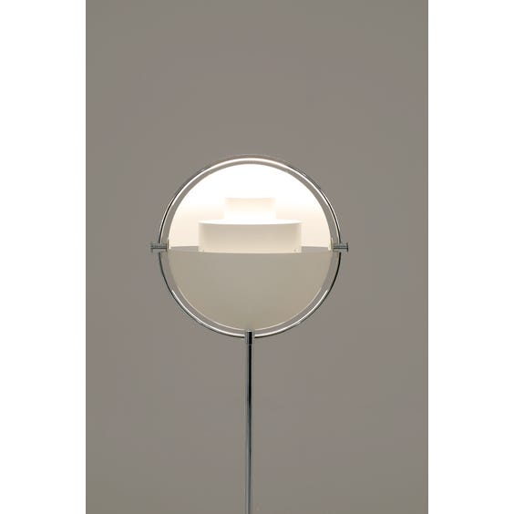 White multi light floor lamp image