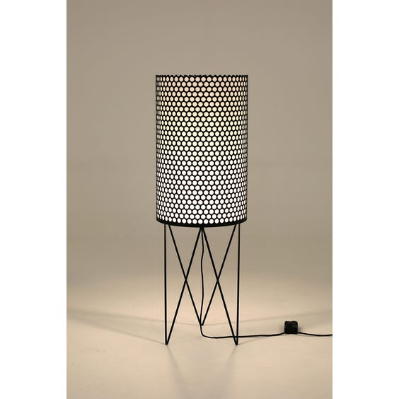Black hole punched floor lamp image