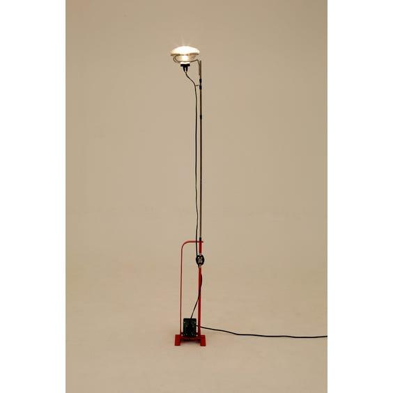 Industrialist iron stemmed floor lamp image