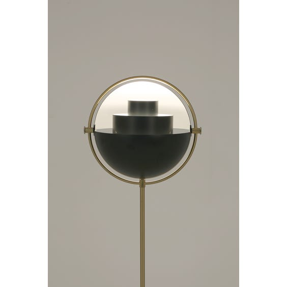 Black and brass floor lamp image