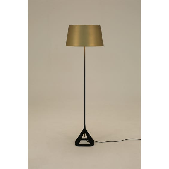 Brushed brass standard lamp image